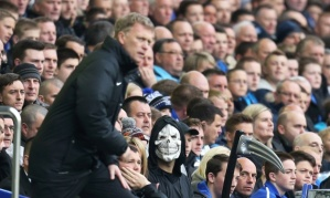 The Grim Reaper looks on at Goodison Park on Sunday